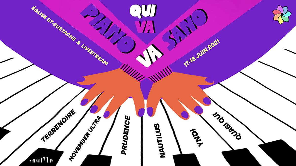 De nouveaux noms pour l'édition 2021 du festival Qui Va Piano Va Sano